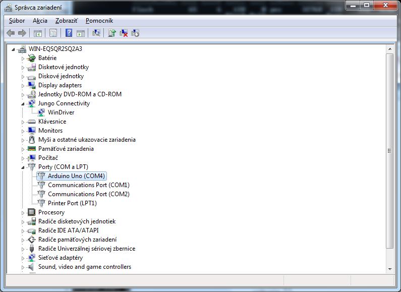 Arduino COM port driver